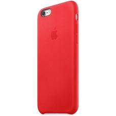 Чехол Apple iPhone 6S Leather Case Red
