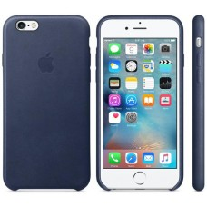 Чехол Apple iPhone 6S Leather Case Dark Blue