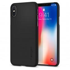 Чехол на телефон Spigen Case Thin Fit for iPhone X matt black (057CS22108)