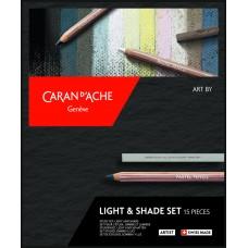 Набір Caran d'Ache Artist Light & Shade Картонний бокс, 15 предметів (7630002335782)