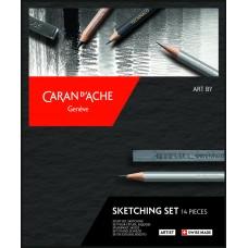Набір Caran d'Ache Artist Sketching Картонний бокс, 14 предметів (7630002335775)