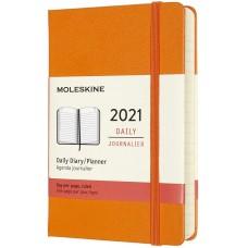 Щоденник Moleskine 2021 кишеньковий / Помаранчевий (DHN112DC2Y21)