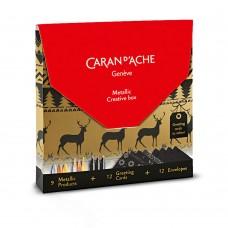Набір Caran d'Ache Creative Box (9 шт. + 12 листівок) (7630002331937)
