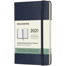 Щотижневик Moleskine 2021 кишеньковий / Сапфір