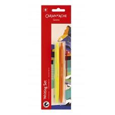 Набір Caran d'Ache Back to School - 2 Ручки кулькові 825 Eco Жовтий та Помаранчевий Неон (7630002339360)