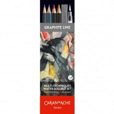 Набір Caran d'Ache Artist Multi-Techniques Металевий бокс, 13 предметів (7630002339780)