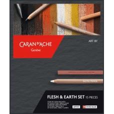 Набір Caran d'Ache Artist Flesh & Earth Картонний бокс, 15 предметів (7630002335799)