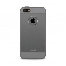 Чехол-накладка Moshi iGlaze Armour Metallic Case Gunmetal Gray for iPhone SE/5/5S (99MO061211)