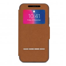 Чехол Moshi Sensecover Slim Portfolio Case with Touch Cover for iPhone X Caramel Brown (99MO072731)
