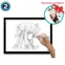 Графический планшет Huion A3 LED Light Pad + перчатка
