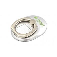 Кольцо держатель для смартфонов PowerPlant, серебристый (CA910304)