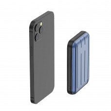 Зовнішній акумулятор з бездротовою зарядкою oneLounge MagSafe Wireless Power Bank 5000mAh Blue