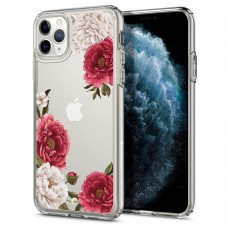Чехол Spigen для iPhone 11 Pro Max Ciel, Red Floral (075CS27168)