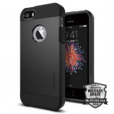 Чехол Spigen для iPhone SE/5S/5 Tough Armor, Black (041CS20189)