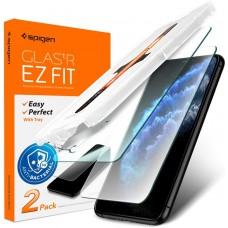 Антибактериальное Защитное стекло Spigen для iPhone 11/XR, 2шт, (AGL01268)