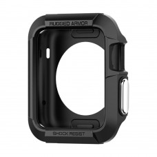 Чехол Spigen для Apple Watch Rugged Armor (42mm) Black (SGP11496)