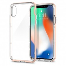 Чехол Spigen для iPhone X Neo Hybrid Crystal, Blush Gold (057CS22173)