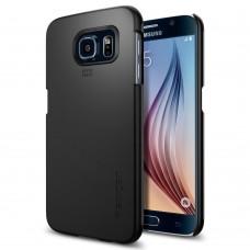 Чехол Spigen для Samsung S6 Thin Fit, Smooth Black (SGP11308)