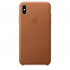 Чехол Apple iPhone XS Max Leather Case - Saddle Brown (MRWV2)