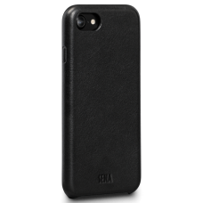 Чехол Sena Leather Skin Snap On Black iPhone 8