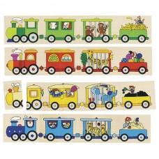Пазл деревянный goki Цветной паровоз 56945