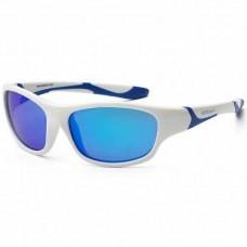 Детские солнцезащитные очки Koolsun бело-голубые серии Sport (Размер: 6+)