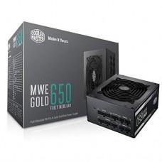 Блок питания Cooler Master MWE Gold 650W,12cm fan,a/PFC,24+8,6xPeripheral,8xSATA,4xPCIe,Full Modular