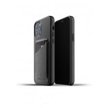 Чехол кожаный MUJJO для iPhone 12 / 12 Pro Full Leather Wallet, Black