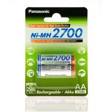 Аккумулятор Panasonic High Capacity AA 2700 mAh 2BP Ni-MH