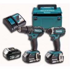 Набор аккумуляторного инструмента Makita DLX2127TJ1 (DDF482, DTD152, ЗУ DC18RC, аккум BL1850Bx3шт - 5 Ач. , кейс Makpac), LXT
