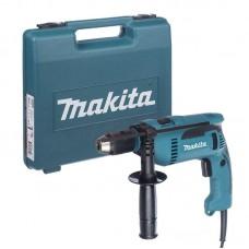 Дрель ударная Makita HP1641K, 680Вт, 13мм, 0 - 2.800 мин-1, 2.0кг
