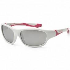 Детские солнцезащитные очки Koolsun бело-розовые серии Sport (Размер: 6+)