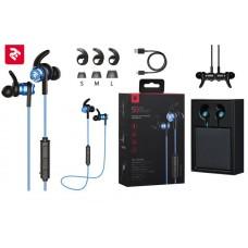 Наушники 2E S9 WiSport In Ear Waterproof Wireless Mic Blue