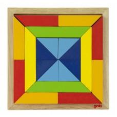 Пазл деревянный goki Мир форм-квадрат 57572-3