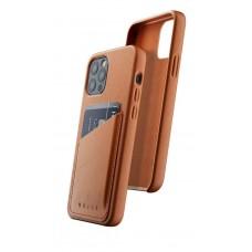 Чехол кожаный MUJJO для iPhone 12 / 12 Pro Full Leather Wallet, Tan
