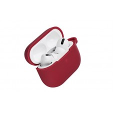 Чехол 2Е для Apple AirPods Pro, Pure Color Silicone (2.5mm) , Cherry red