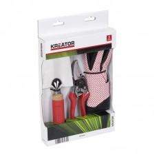 Набор секатор + садовый совок + перчатки VARO KREATOR