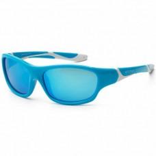 Детские солнцезащитные очки Koolsun бирюзово-белые серии Sport (Размер: 6+)