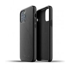 Чехол кожаный MUJJO для iPhone 12 / 12 Pro Full Leather, Black