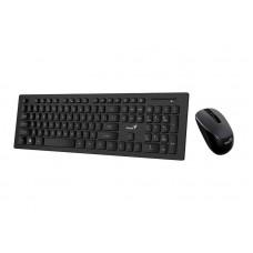 Комплект (клавіатура + миша) Genius SlimStar 8008 Black WL Ukr (31340001413)