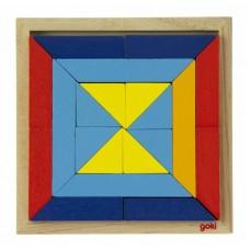 Пазл деревянный goki Мир форм-треугольники 57572-1