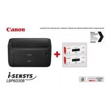 Принтер А4 Canon i-SENSYS LBP6030B (бандл с 2 картриджами)