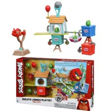 Игровая фигурка Jazwares Angry Birds ANB Medium Playset (Pig City Build 'n Launch Playset)