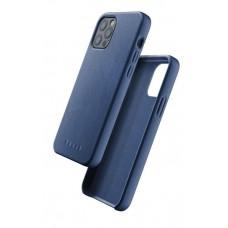 Чехол кожаный MUJJO для iPhone 12 / 12 Pro Full Leather, Monaco Blue