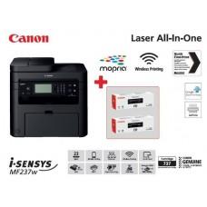 МФУ А4 ч/б Canon i-SENSYS MF237w c Wi-Fi (бандл с 2 картриджами)