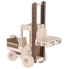 Машинка деревянная goki Автопогрузчик (натуральный) 55901