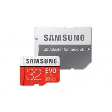 Карта пам'яті Samsung 32 GB microSDHC Class 10 UHS-I EVO Plus + SD Adapter MB-MC32GA