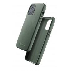 Чехол кожаный MUJJO для iPhone 12 / 12 Pro Full Leather, Slate Green