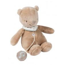 Nattou Мягкая игрушка с музыкой мишка Базиль 28см. 562089