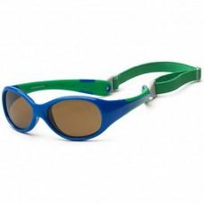 Детские солнцезащитные очки Koolsun зеленые серии Flex (Размер: 0+)